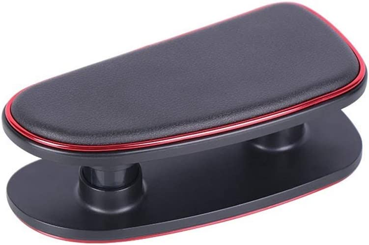 Black Red Edge Armrest Rest Pad Elbow Car Driver Comfort Universal Adjustable Height Stick On Left Hand Support Cel Ergonomic Soft Side Breathable