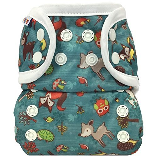 Bummis All-In-One Cloth Diaper - One Size - 8-35 Pounds - Forest Animals