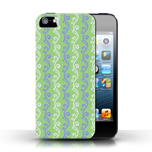 iCHOOSE Print Motif Coque de protection Case / Plastique manchon de telephone Coque pour Apple iPhone 5/5S / Collection vigne / Vert