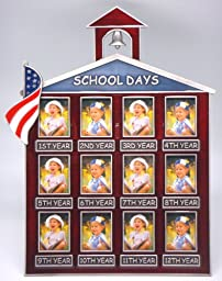 12 Photos Little Red School House W/american Flag (Item # 7)