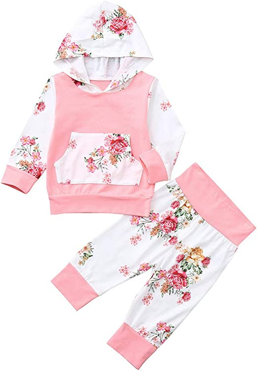 1-5T Baby Girl Long Sleeve Splice Floral Dress Kids Toddler Tops Blouse Outfits*