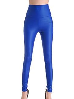 daf867cfec7dba Gladiolus Femme Pantalon en Simili Cuir Longue Taille Haute Chaud Legging  Pantalon Faux Cuir Leggings