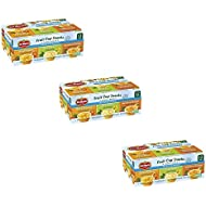 Del Monte No Sugar Added Variety Fruit Cups 12 ct (3 Box (12 Counts))