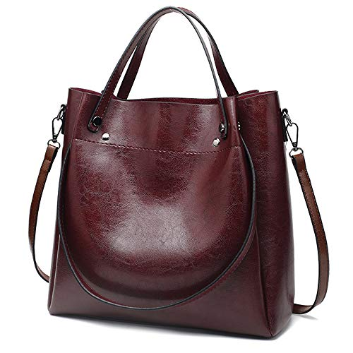 Satchel Style Shoulder Bag - Cawmixy Hobo Women Satchel Soft Shoulder Bags Classic Tote Ladies Purses Designer Woman Bags (New Wine)