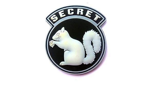 Moral parche mil Spec Mono secreto ardilla PVC ACU luz gancho respaldo  Blanco