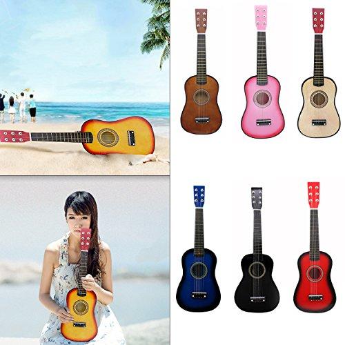"Blueseason Kids Guitar New Mini 23"" Beginners Student Children Classical Acoustic Guitar, Black - Image 6"