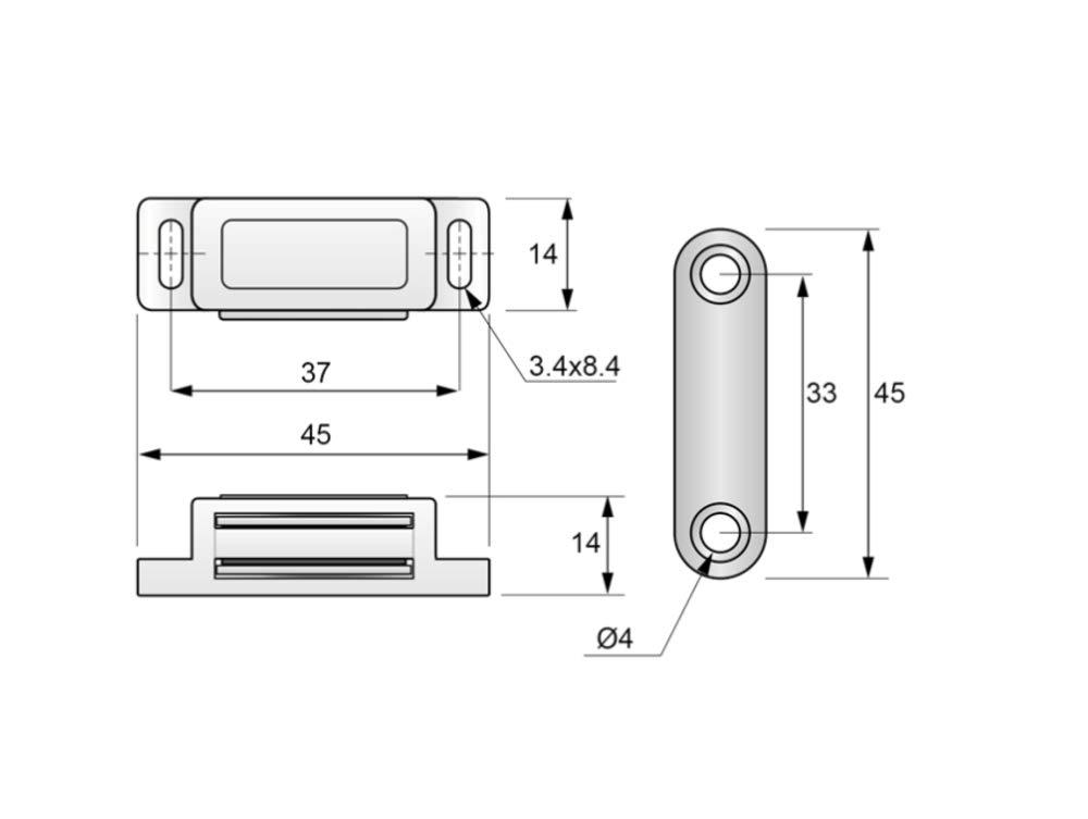 Wei/ß, ohne Schrauben 10 Magnetschn/äpper T/ürmagnet M/öbelmagnet Schrank Schnapper Magnetverschluss