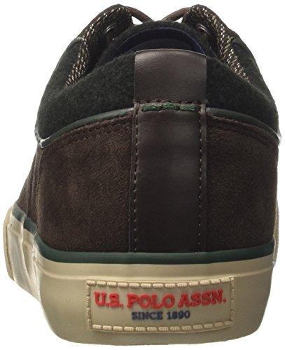 ASSN Uomo S Suede Sterling U Sneaker Dark Collo POLO Brown a Marrone Basso pBECBwqn