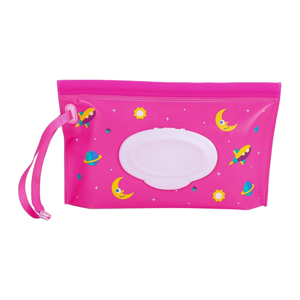 Yehapp Eco-Friendly Wet Wipe Pouch Dispenser EVA Case Travel Clutch Pouch Holder Reusable Refillable Portable Baby Wipes Container with Handle Rope