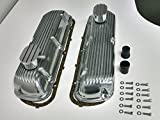 SB Ford Finned Aluminum Valve Cover w/ Breather Kit SBF V8 260 289 302 351W
