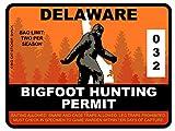 Bigfoot Hunting Permit - DELAWARE (Bumper Sticker)