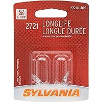SYLVANIA 2721 Long Life Miniature Bulb, (Contains 2 Bulbs)