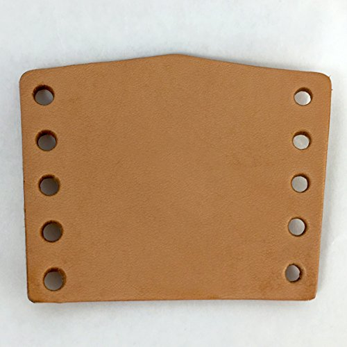 """Springfield Leather Company 25pk Vegetable Tan Cowhide Leather Neckerchief Slide 3-1/2""""x2-3/4"""""""