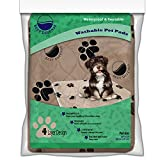 Washable Pee Pads for Dogs - 2- Pack Large Reusable Dog - Puppy Wee Wee - Whelping and Training Pad for Home - Apartment - Crate and Travel