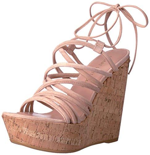 (Stuart Weitzman Women's Histrung Wedge Sandal, Bisque, 6.5 M US)