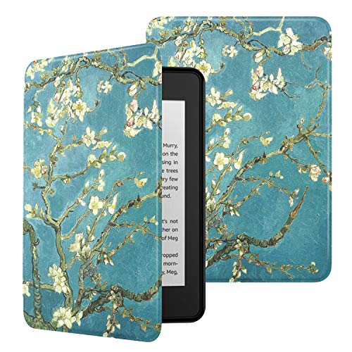 MoKo Case Fits Kindle Paperwhite (10th Gen, 2018 Releases), Premium Ultra Lightweight Shell Cover with Auto Wake/Sleep for Amazon Kindle Paperwhite 2018 E-Reader - Almond Blossom