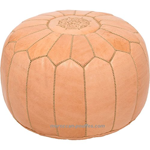 moroccan poufs leather luxury ottomans footstools natural unstuffed