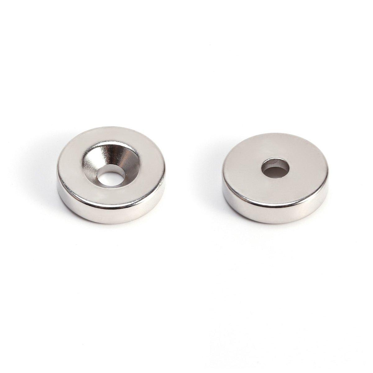 10er estremamente forte disco rotondo magnete neodimio con foro 20/* 5/mm bacheca frigorifero Ufficio