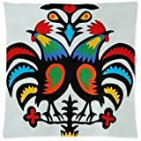 Elegant Comfort Luxurious Silky Soft Rooster Zippered Pillow Case 18x18 inch (one side)