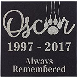 Paw Scratch Cat Always Remembered Cat Memorial Personalized Grave Stone For Cat | Granite