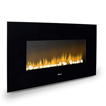 Terrific Della 37 Inch Xl Heat Electric Wall Mount Adjustable Fireplace Heater Recessed With Remote Control 1400W Black Interior Design Ideas Gentotryabchikinfo