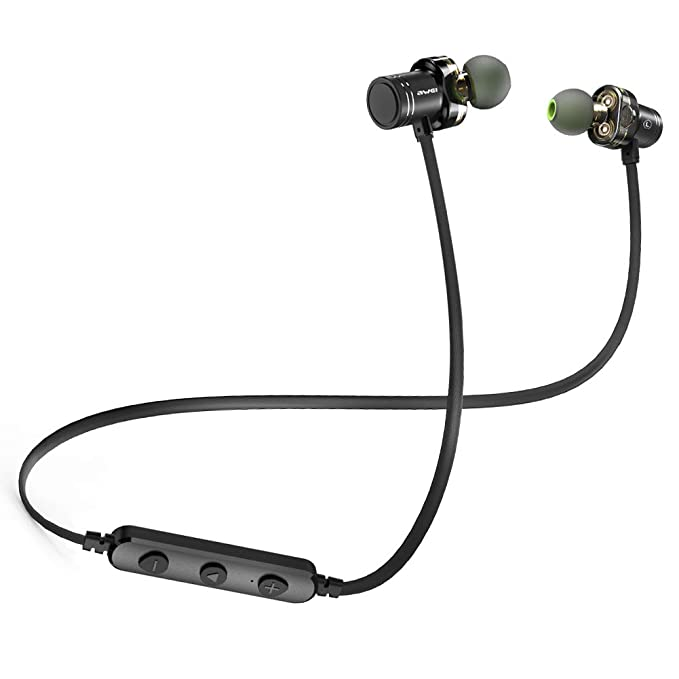 6af27964803 Bluetooth Headphones,AWEI Dual Graphene Drivers Wireless Earbuds Sport,Headset  Earphones with Mic and