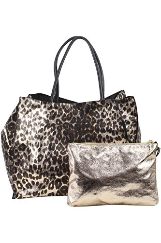 Betsey Johnson Women's In A Flash Leopard Large Shopper Tote Handbag Set