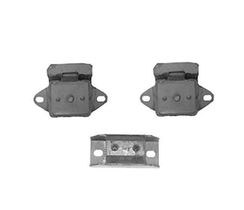 Interlocking Motor Transmission Mounts 3Pc for Jeep CJ5 CJ7 3.8L 4.2L 1976-1986