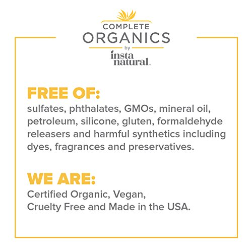 Complete Organics by InstaNatural Organic Marula Oil - 100% Pure, Non GMO, Cold Pressed, Unrefined, Moisturizing and Balancing for Hair, Body, Hands or Cuticle, and Normal to Oily Skin - 1 OZ