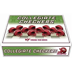 NCAA Virginia Tech Hokies Miniature Helmets Checker Set