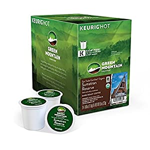 Green Mountain Coffee Fair Trade Organic Sumatran Reserve, K-Cup for Keurig Brewers