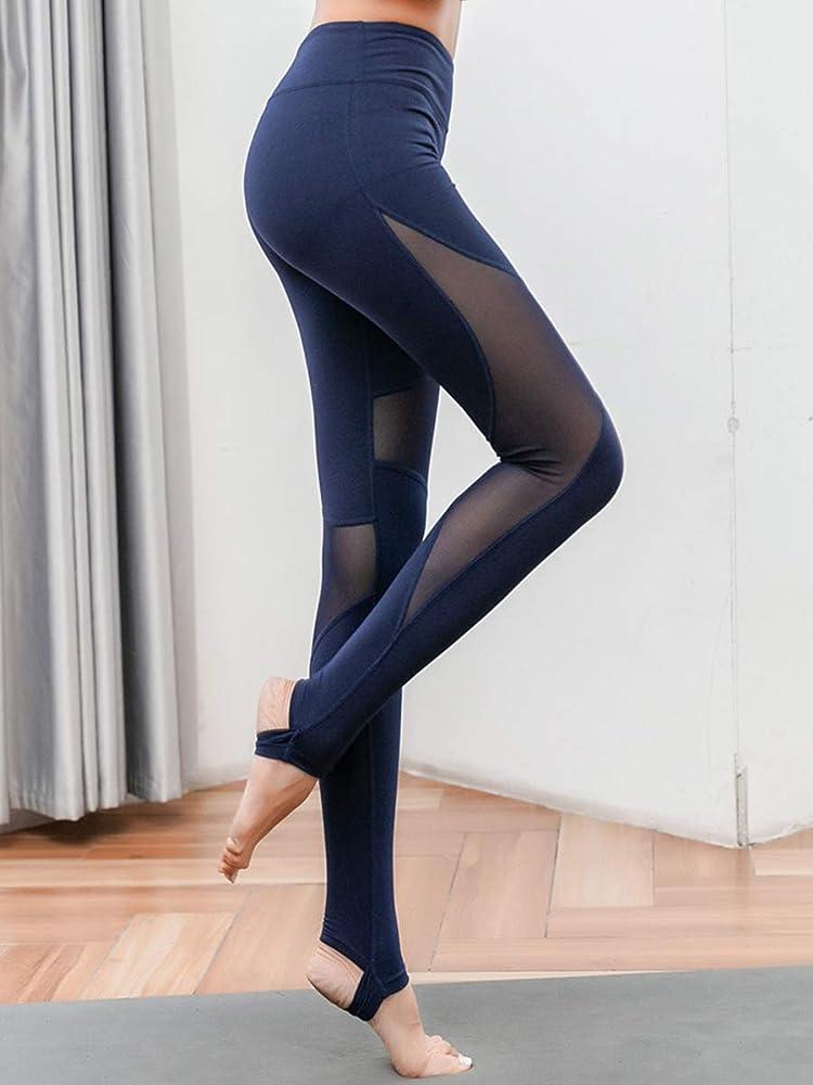 Uni-Wert Mallas Leggings Mujer Yoga de Alta Cintura Elásticos y ...