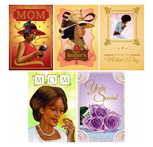 [Assorted African American Mother's Day Card Box Set #1 (Set of 5)] (African American Stationery)