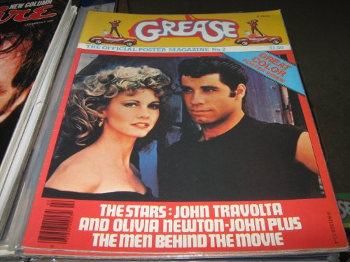 Grease The Official Poster Magazine #2 (John Travolta , Olivia Newton-John , The Men behind The Movie, 1978) -