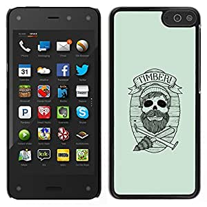 LECELL--Funda protectora / Cubierta / Piel For Amazon Fire Phone -- Maderas del inconformista cráneo --