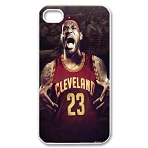 Unique Phone Case Pattern 20Hard Plastic Cover NBA Cleveland Cavaliers LeBron James - For Iphone 4 4S case cover