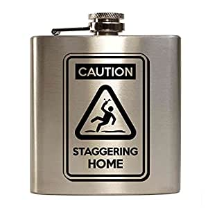 E-Volve Petaca Hip Flask - 6oz - acero inoxidable - Plata - Stagger / Party / Drink