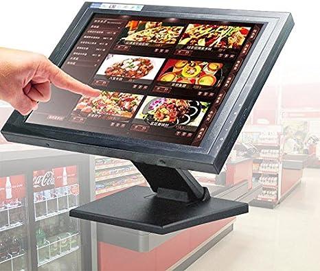 PRIT 15 Pulgadas POS Pantalla Táctil Monitor LCD Stand Monitor para Caja registradora Sistema: Amazon.es: Informática