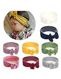 Baby Nylon headbands Turban Knotted Girls Hairband Super Soft and Stretchy