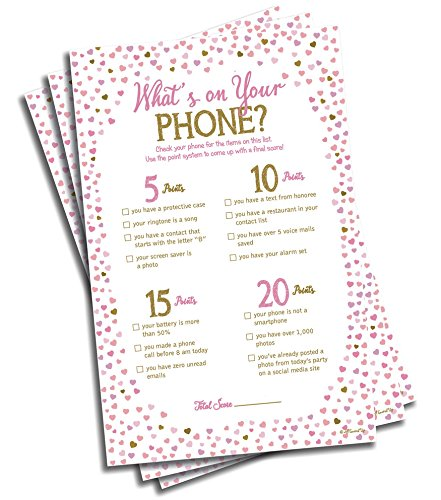 Whats On Your Phone Game - Pink Heart (50-sheets)
