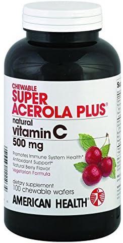 depot American Health Super Chewable Acerola Natural Fort Worth Mall Plus® B Vitamin C