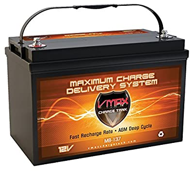 VMAXMB137 AGM Group 31 Deep Cycle Battery Replacement for 21st Century Bounder 12V 120Ah Wheelchair Battery
