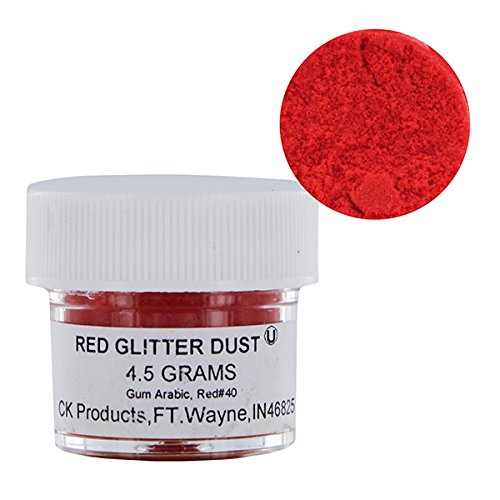 Fine Edible Red Glitter Dust 4.5 grams by CK