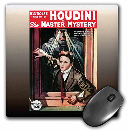 3dRose 8 X 8 X 0.25 Vintage Houdini In The Master Mystery Episode Eight Advertising Poster Mouse Pad (mp_114156_1)
