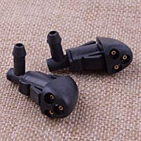 2Pcs 3-Hole Car Windshield Washer Wiper Water Spray Nozzle Tool Fit for Chevrolet Cruze 2009 2010 2011 2012 2013 2014