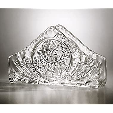 Handcut Crystal Napkin Holder - 6.75 inches