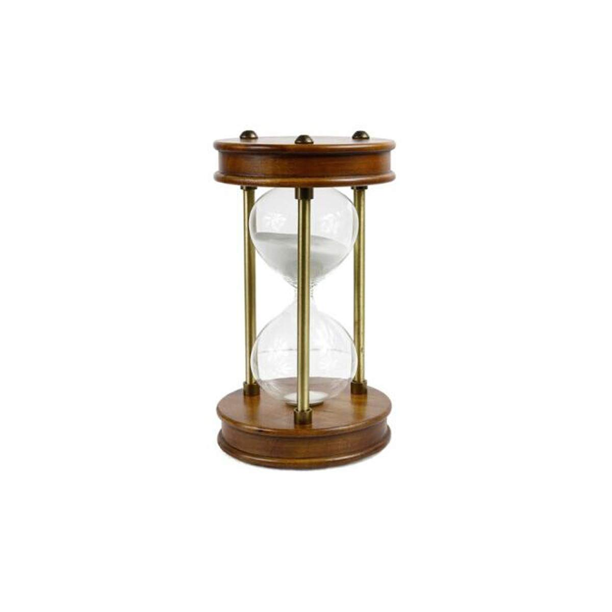 Guyuexuan Hourglass, Anti-Fall Early Education Hourglass Home Decoration, Can Be 30/60 Minutes, Can Be Used As A Birthday Gift for Children Or Relatives Ashtray (Color : Brown, Size : A-60min)