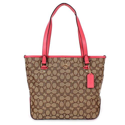 coach-outline-signature-zip-top-tote-f58282-khaki-strawberry