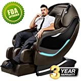 Massage Chair Recliner, SL-Track Zero Gravity, Full Body Shiatsu Electric Massage Chair with Tapping, Heating,Stretching, Swedish Massage Back and Foot Massagers (coffee)
