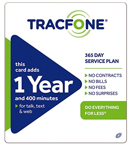 Tracfone 1 Year of Service and 400 Minutes by Tracfone